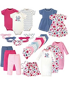 Baby Girl Organic Layette Set, 25 Pack
