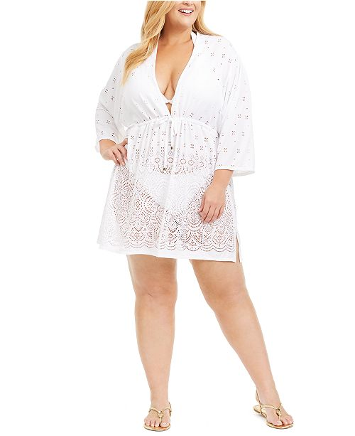 Dotti Plus Size Gypsy Gem Tunic Cover-Up