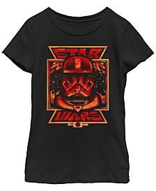 Star Wars Big Girls Rise of Skywalker Sith Trooper Big Face First Order Allegiance T-Shirt