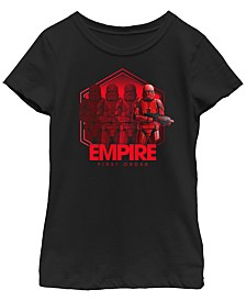 Star Wars Big Girls Rise of Skywalker Empire First Order Troopers T-Shirt