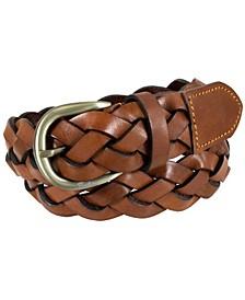 Arlen Large Weave Leather Casual Belt