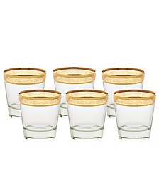 Double Old Fashion Melania Collection Amber - Set of 6