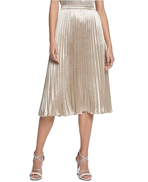 get new complete range of articles free shipping DKNY Pleated Midi Skirt & Reviews - Skirts - Women - Macy's