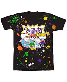 Slim-Fit Rugrats Paint Splatter Men's Graphic T-Shirt