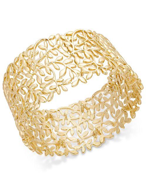 INC International Concepts INC Rose Gold-Tone Vine Stretch Bracelet, Created For Macy's