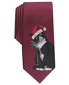 Men's Mittens The Kitten Skinny Holiday Tie, Created For Macy's