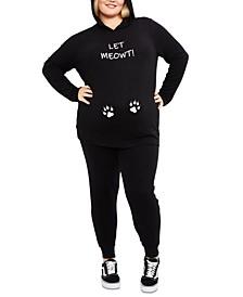 Let Meowt™ 2-Pc. Plus Size Set