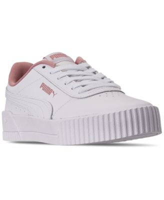 Puma Big Girls Carina Leather Casual Sneakers from Finish Line ...