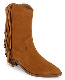 Monica Fringe Booties