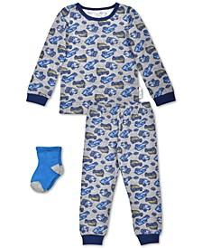 Baby Boys 3-Pc. Cars Pajamas & Socks Set, Created For Macy's