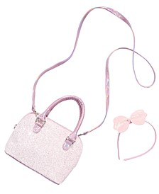 Little & Big Girls 2-Pc. Headband & Glitter Bag Set