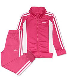 Toddler Girls 2-Pc. Colorblocked Jacket & Pants Tricot Track Set