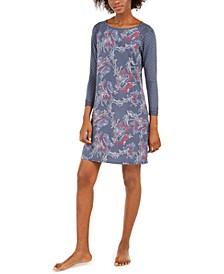 Women's Printed Modal Short Nightgown