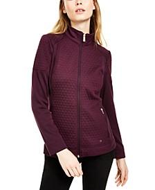 Diamond-Stitch Fleece Jacket