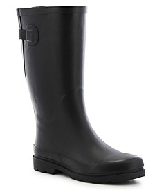 Women's Wide-Calf Rubber Rain Boots