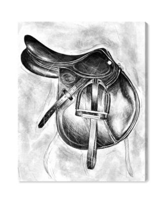 Jumping Saddle Canvas Art, 30