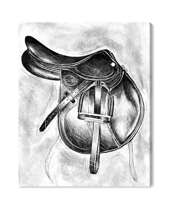 """Oliver Gal Jumping Saddle Canvas Art, 20"""" x 24"""""""