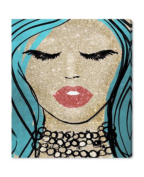 "Oliver Gal Mermaid Vibes Barbie Canvas Art, 30"" x 36"""