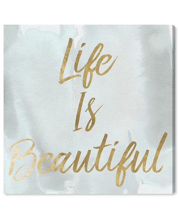 "Oliver Gal Life Is Beautiful Smokey Canvas Art, 16"" x 16"""