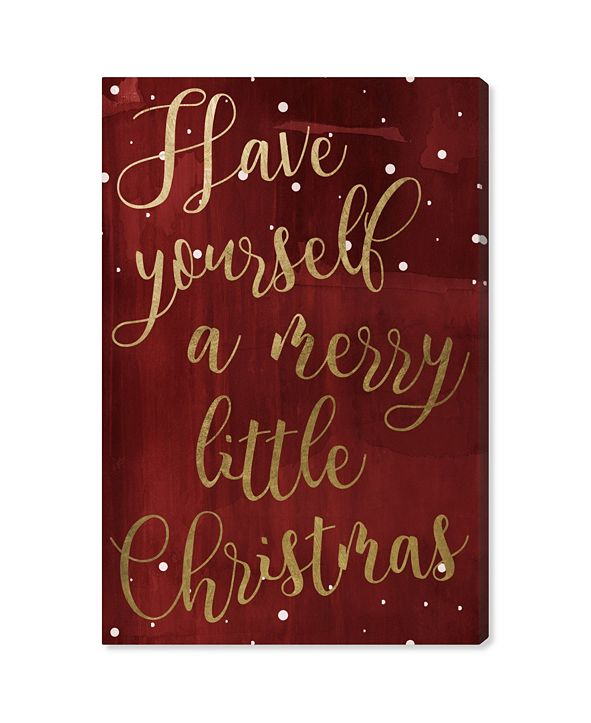 """Oliver Gal Have Yourself A Merry Christmas Canvas Art, 10"""" x 15"""""""