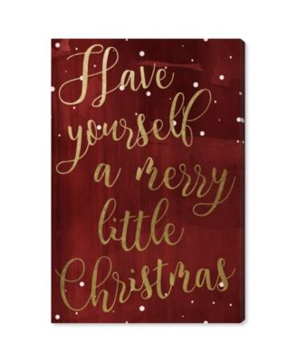 """Have Yourself A Merry Christmas Canvas Art, 24"""" x 36"""""""