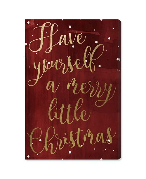 "Oliver Gal Have Yourself A Merry Christmas Canvas Art, 24"" x 36"""