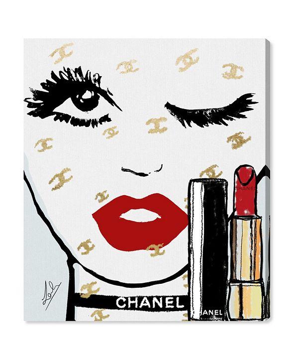 "Oliver Gal Le Rouge Face Canvas Art, 30"" x 36"""