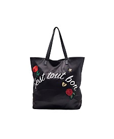 Like Dreams Reversible Embroidery Tote Bag