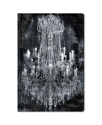 20210 Crushed Velvet Chandelier Canvas Art, 16