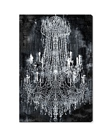 20210 Crushed Velvet Chandelier Canvas Art Collection