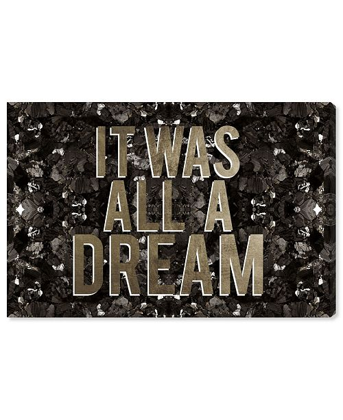 """Oliver Gal It Was All A Dream Champagne Canvas Art, 45"""" x 30"""""""