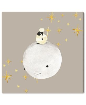 Sheep and Moon Best Friends Canvas Art, 12