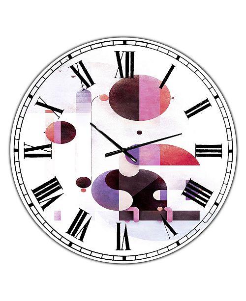 "Designart Rainbow Swinger Oversized Mid-Century Wall Clock - 36"" x 28"" x 1"""