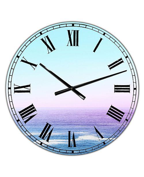 "Designart Ocean View Oversized Nautical & Coastal Wall Clock - 36"" x 28"" x 1"""
