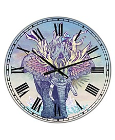 "Spirit Elephant Large Modern Wall Clock - 36"" x 28"" x 1"""