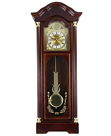 "Clock Collection 33"" Antique Chiming Wall Clock with Roman Numerals"