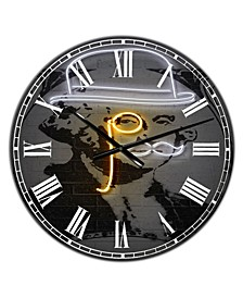 "Washington Large Modern Wall Clock - 38"" x 38"" x 1"""