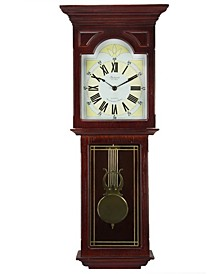 "Clock Collection 23"" Wall Clock with Pendulum and Chime"