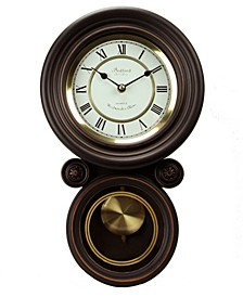 Clock Collection Contemporary Round Wall Clock with Pendulum