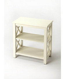 Vance Cottage White Bookcase