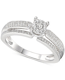 Diamond Promise Ring (1/3 ct. t.w.) in Sterling Silver