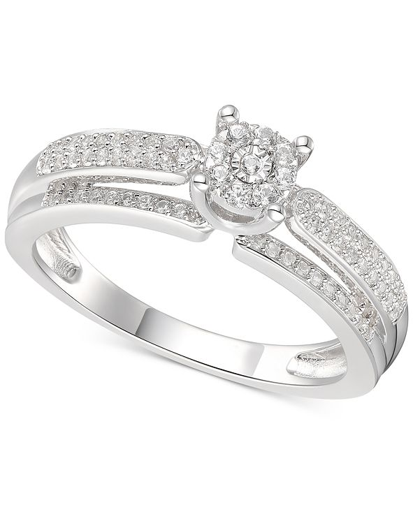 Promised Love Diamond Promise Ring (1/3 ct. t.w.) in Sterling Silver
