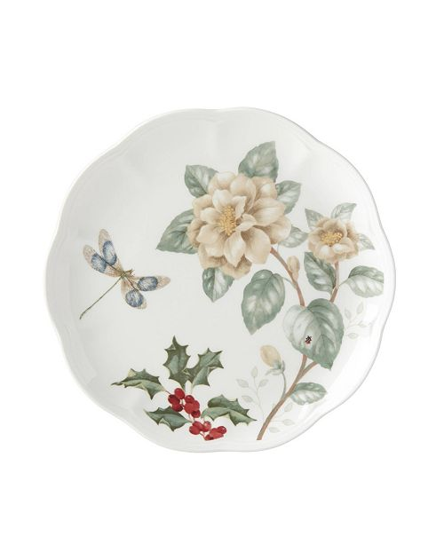 Lenox Butterfly Meadow Holiday Accent Plate Jasmine