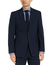 Men's Modern-Fit THFlex Stretch Navy Check Suit Jacket