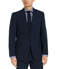 Tommy Hilfiger Men's Modern-Fit THFlex Stretch Navy Check Suit Jacket
