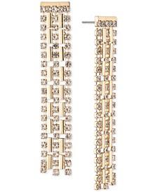Gold-Tone Crystal Waterfall Chandelier Earrings