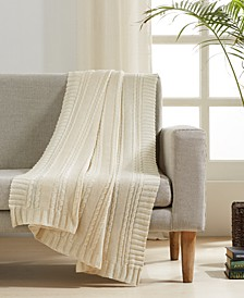 "Cable Knit Cotton 50"" x 60"" Throw"
