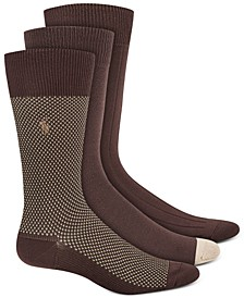 Men's Birdseye Dress Socks, 3 Pack