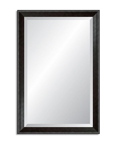 Reveal Frame & Decor Reveal Modern Smoked Pewter Beveled Wall Mirror
