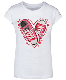 Big Girls Cotton Sneaker Heart T-Shirt